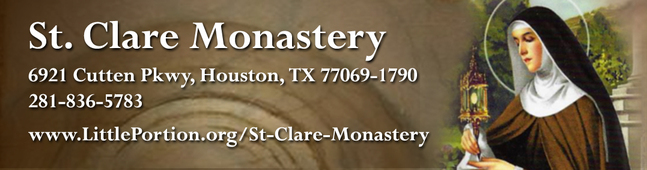 St  Clare Monastery | The Brothers and Sisters of Charity at